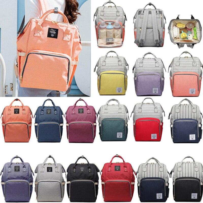 33 Colors Mummy Maternity Nappy Bag Brand Large Capacity Baby  Travel Backpack Designer Nursing Bag For Baby Care Diaper Bag