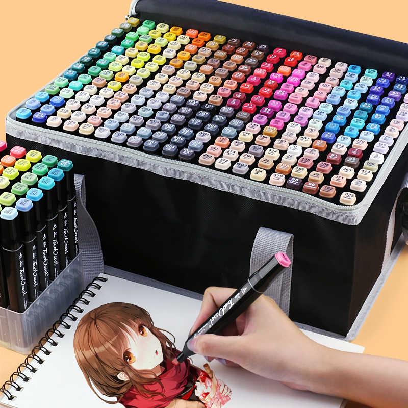 TOUCHCOOL Art MARKER 262 สีแอลกอฮอล์MARKERปากกาสีน้ำแปรงปากกาSketch MARKER DUAL TIPภาพวาดปากกาแปรง