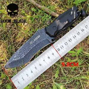 Image 2 - سكين مستقيم 8CR13MOV شفرة فولاذية ثابتة المحمولة التكتيكية أداة السكاكين جيدة للصيد التخييم بقاء في الهواء الطلق كل يوم