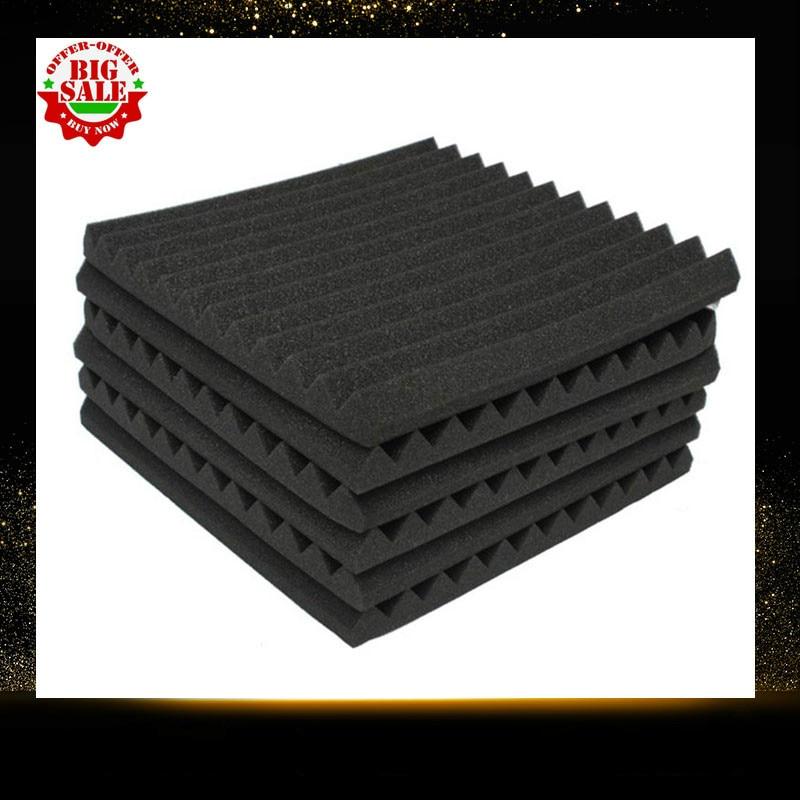 24 Units Soundproofing Foam Studio Acoustic Panels 1X12X12 Inch Foam Wedges Studio Soundproofing Absorption Treatment Panel