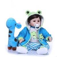 NPK 19''Handmade Reborn Dolls Silicone vinyl adorable Lifelike toddler Baby Bonecas boy kid bebes doll reborn menina de silicone