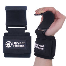 1 par de levantamento de peso suporte de pulso com ganchos treinamento ginásio apertos cintas para o halterofilismo halterofilismo pesado academia equipamento halteres musculação