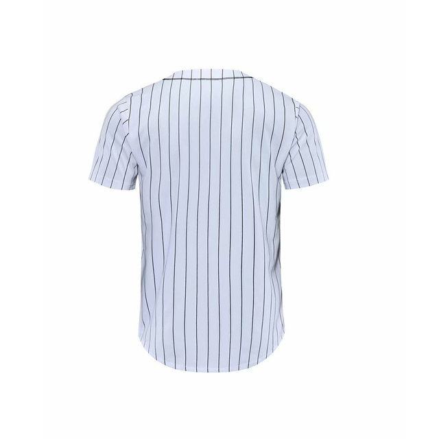 Men Stripes Baseball Jersey