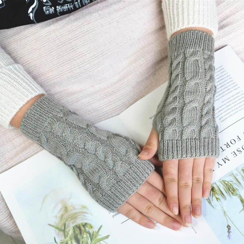 Calymel Knitted Long Hand Gloves Women's Warm Embroidered Winter Gloves Gloves For Women Girl перчатки женские