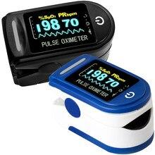 Casa médica digital fingertip oxímetro de pulso oxigênio no sangue saturação medidor dedo oled spo2 pr monitor cuidados de saúde
