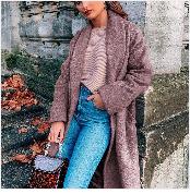 Autumn Winter Coat Women 2019 Fashion Vintage Slim Double Breasted Jackets Female Elegant Long Warm White Coat casaco feminino 47