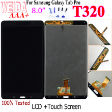 WEIDA T320 LCD Replacment 8 For Samsung Galaxy Tab Pro 8.4 T320 SM-T320 LCD Display Touch Screen Digitizer Assembly T320 WIFI stylish pvc tpu back case screen guard for samsung galaxy tab pro 8 4 t320 deep pink