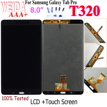 WEIDA T320 LCD Replacment 8 For Samsung Galaxy Tab Pro 8.4 T320 SM-T320 LCD Display Touch Screen Digitizer Assembly T320 WIFI free shipping for samsung galaxy tab 3 8 0 sm t310 t310 wifi touch screen digitizer glass lcd display assembly replacement