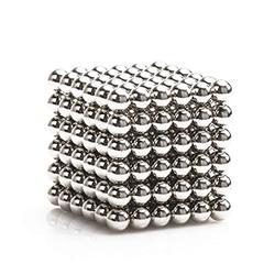 5mm 216 peças de ímã escultura blocos de construção brinquedo inteligência aprendizagem-brinquedos de escritório e adulto descompressão (prata brilhante
