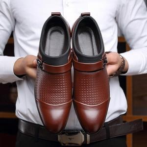 Image 5 - REETENE 2019 Đầm Giày Cưới Giày Da Ý Mũi Nhọn Nam Đầm Giày Tiệc Cưới Giày Nam Oxfords