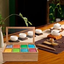 Экологичный чехол, портативная Крышка для чайной канистры, ручная работа, Бамбуковая натуральная коробка для хранения, Бамбуковая коробка для хранения чая, натуральный дом