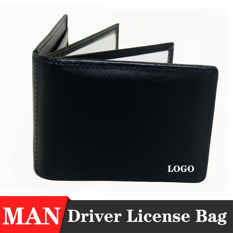 KAHANE Men s Leather Car Driver License Bag Credit Card holder Men s gift with brand car logo For Audi BMW JEEP Hyundai VW FORD