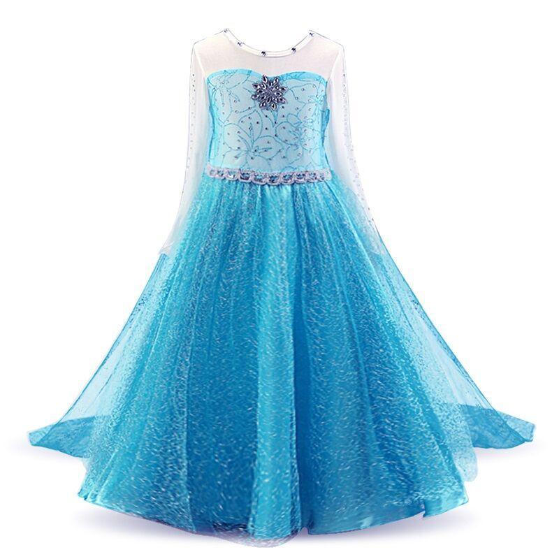 Dresses Girls Princess Anna Elsa Cosplay Halloween Costume Kid's Party Dress Snow White Kids Girls Clothes 4 6 7 8 9 10 Years