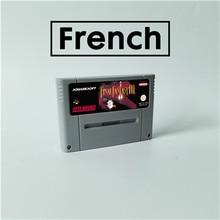 Jogo final fantasia iii 3 língua francesa rpg cartão de jogo eur versão inglês idioma bateria salvar