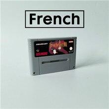 Son oyunu fantezi III 3 fransız dil RPG oyun kartı EUR sürümü İngilizce dil pil tasarrufu
