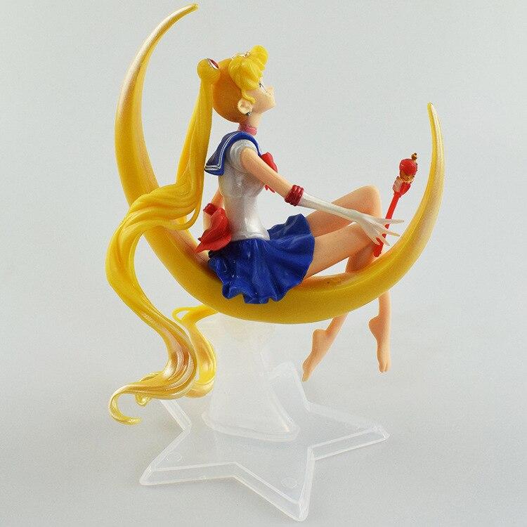 12cm sentado marinheiro lua tsukino usagi figura de ação pvc bolo coleção modelo brinquedos para presente natal