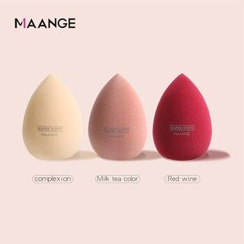 Спонжи MAANGE для макияжа для влажной и сухой красоты, консилер в форме капли, основа, пудра, воздушная подушка, экономия косметики, натуральные| |   | АлиЭкспресс