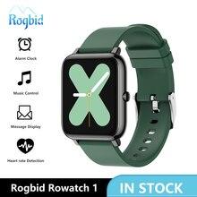 Rogbid Rowatch 1 akıllı saatler erkekler tam dokunmatik spor izci kalp monitörü akıllı saat su geçirmez Smartwatch kadınlar Android IOS