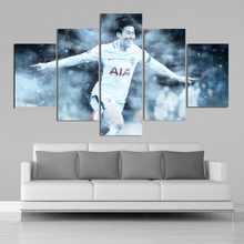Soccer Stars Tottenham Heung-Min Son Posters 5 Pieces Canvas Art Paintings Football Sports Kids Room Decor Frame