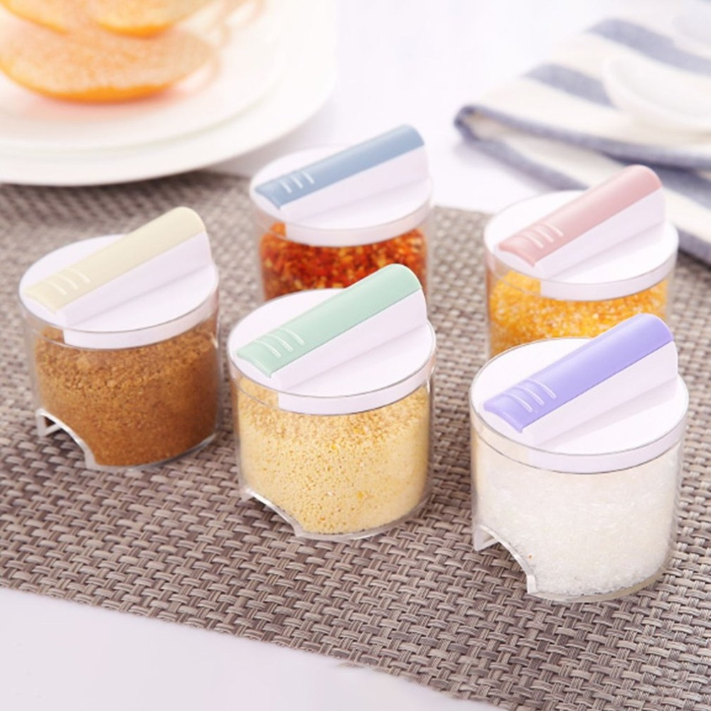 5xSeasoning Spice Tool Kitchen Ceramic Cruet Spice Jar Shakers Set Container