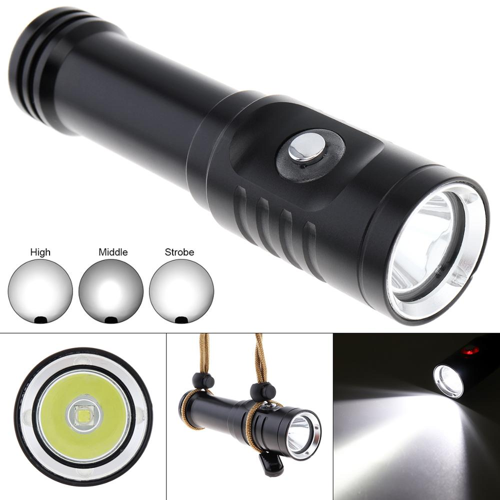 3 Modes 1500LM XM L2 U4 LED Diving Flashlight Underwater 150 Meters 10 Degree Spotlight Waterproof Switch for Underwater Diving in LED Flashlights from Lights Lighting