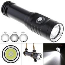3 Modes 1500LM XM-L2 U4 LED Diving Flashlight Underwater 150 Meters 10 Degree Spotlight Waterproof Switch for