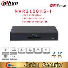 Dahua-grabadora de vídeo compacta de 8 canales, dispositivo de grabación de red, NVR2108HS-I, detección facial y reconocimiento facial, 4K, 1U