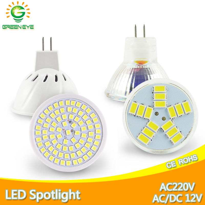 MR16 LED Spotlight  MR11 LED Lamp AC 12V  220V  6W SMD 2835 Bulb LED Lampada Spot Light Decoration Ampoule Warm White Cold White