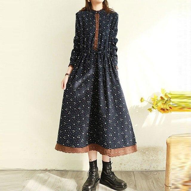 comfortable. two layer polka dot dress 5