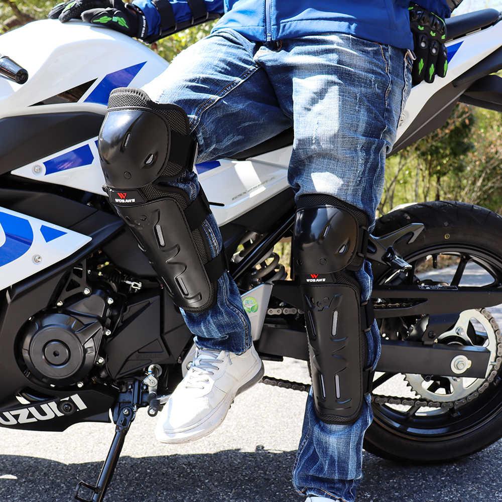 WOSAWE Hard Shell Moto Knie Pads Set Brace Unterstützung Sport Off-Straße Wache MTB Snowboard Kneepad Hockey Motorrad Schutz kits