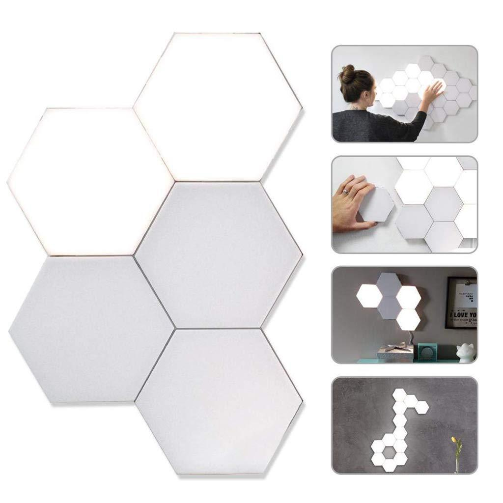 LTOON Touch Wall Lamp Creative Honeycomb Modular Assembly Helios Quantum lamp LED Magnetic decoration Wall Light Bedroom Lamp 2