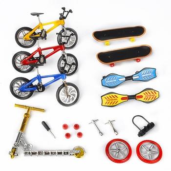 Gorąca sprzedaż minirower Mini hulajnoga fingerboard Skating Board Site dzieci edukacyjne zabawki rower na palec zabawki modele prezenty dla chłopców dziewcząt tanie i dobre opinie Metal Finger deskorolki 5-7 lat Dorośli 8-11 lat 12-15 lat