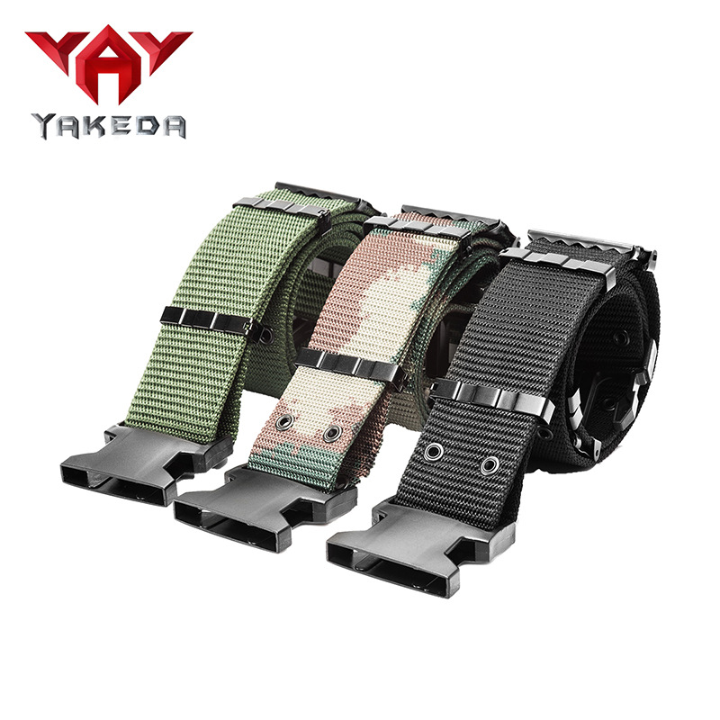 Yakeda Tactical Belt Outdoor Camouflage S Belt Special Forces Workwear Armed Military Training Outdoor Training Web Belt