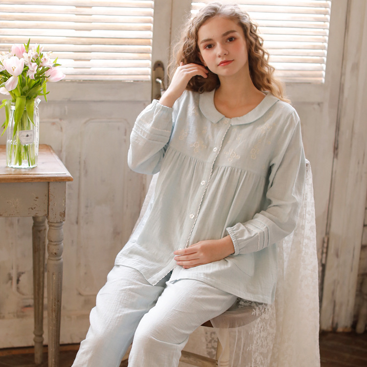 Meju New Products Pure Cotton Pajamas Women's Spring And Summer Thin 2020 Japanese-style Casual Household Set Cotton Tracksuit
