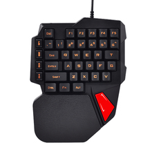 K108 Mechanical One-Handed Keyboard Left Hand Small Keyboard Gaming Keyboard For PUBG Mobile Game