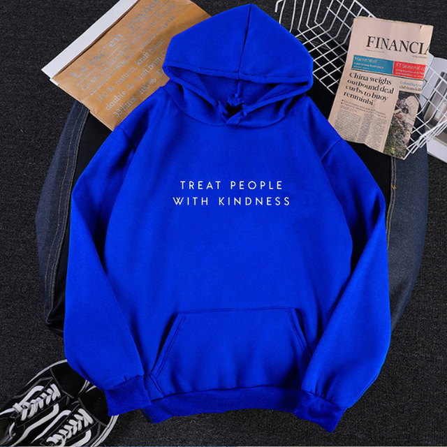 Treat People with Kindness Hoodies Womens Be Kind Sweatshirt Inspirational Quote Woman Clothes 2020 Girls Harry Styles Tops L 6