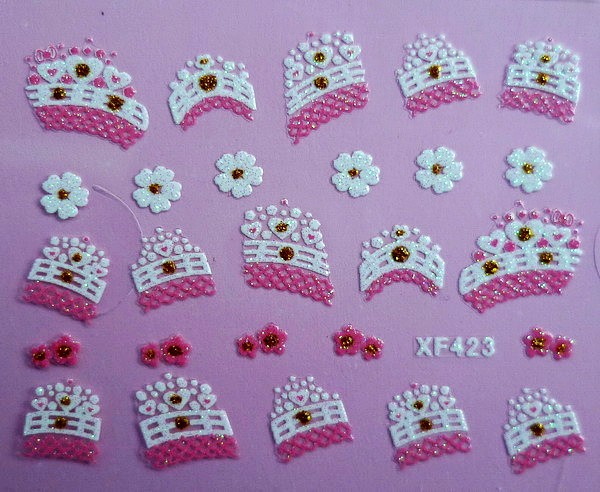 XF Nail Sticker 3D Nail Sticker Lace Nail Sticker Thousands-Selectable Recruit Agents XF423