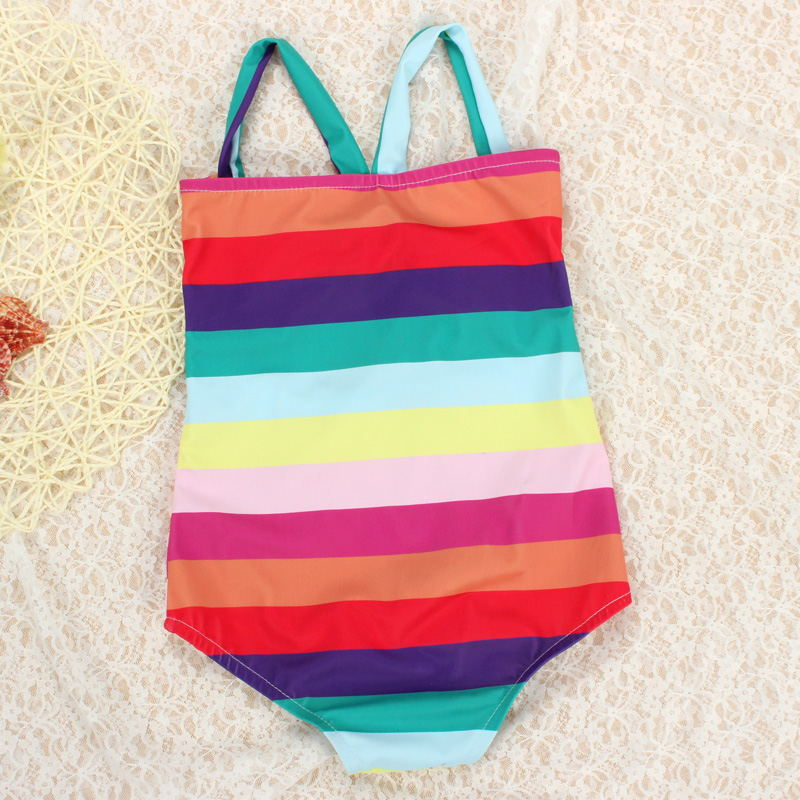 Children Baby Girls Small CHILDREN'S One-piece Swimming Suit Baby Girls Cute Infants 0-1-2-3-Year-Old Fashion Princess Korean-st