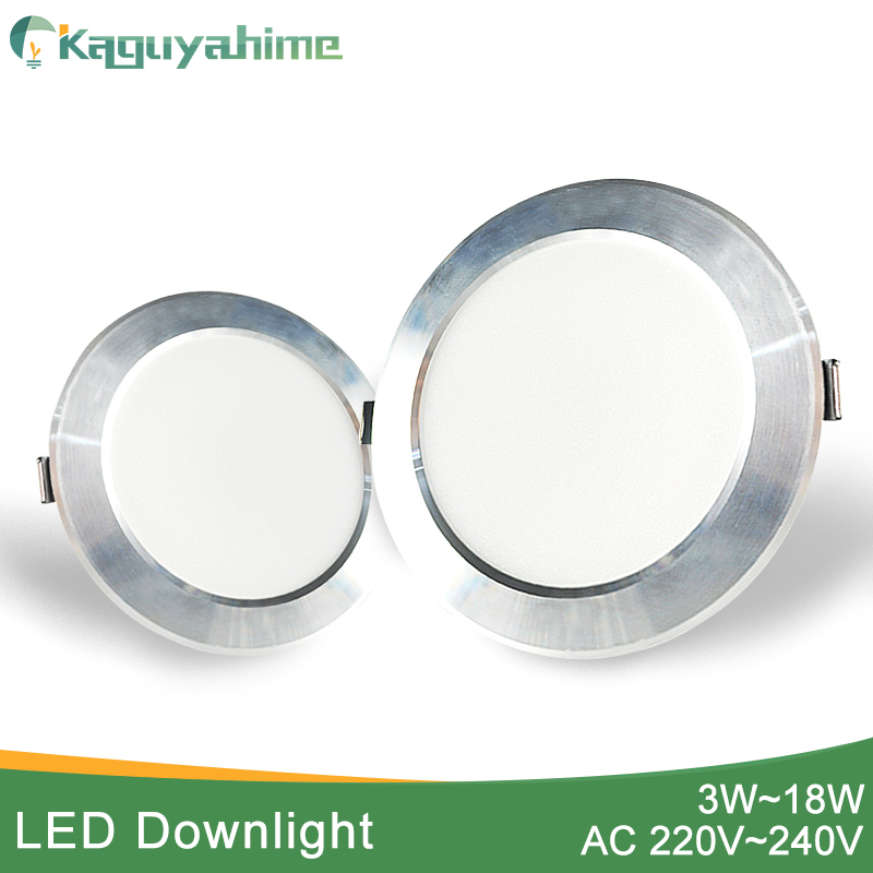 Kaguyahime 1pc/4pcs Spot LED Downlight 220V Frosted Drawing Ultra Thin Recessed LED Lighting For Kitchen Indoor 3W 5W 9W 15W 18W