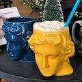 Керамическая кружка с головой Давида  большая емкость  древнегреческая скульптурная чашка Apollo  Офисная Персонализированная кофейная чашка...
