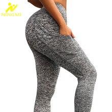 NINGMI Slimming Pants Big Ass Sexy Butt Lifter Women Sport Leggings with Phone Pocket Control Panties Waist Trainer Body Shapers