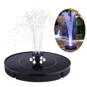 Круглый светодиодный фонтан 2,5 Вт с солнечной батареей, уличный сад, бассейн, водяной насос, птица, ванна, Декор, полиэтилен, высота воды 30-50 с...