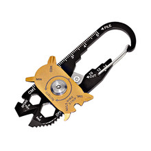 20 In 1 Multitools Portable Stainless Steel Mini Utility Keychain Outdoor Camping Key RingTools Outdoor Survival Gear(China)