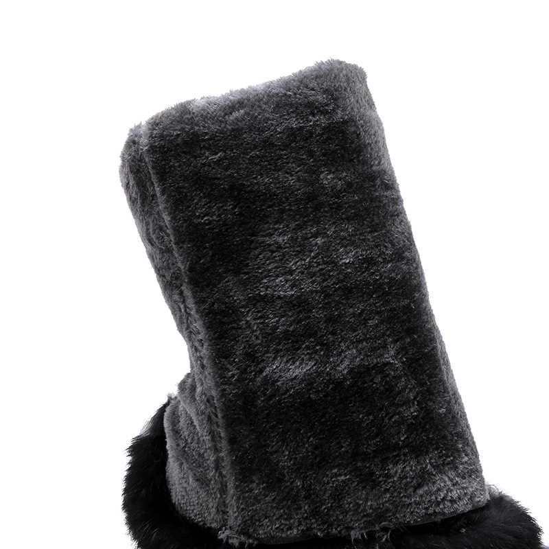 JK Bont Warme Laarzen Vrouwen Waterdichte Sneeuw Boot Lady Ronde Neus Casual Schoenen Vrouwelijke Over De Knie Schoenen Platte Platform schoenen Winter