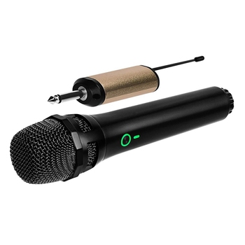 Wireless Dynamic Microphone, UHF Cordless Microphone System with Portable Receiver for House Parties,Karaoke, Meeting Microphone leory professional uhf karaoke wireless dual handheld mic transmitter microphone system with receiver for family diy ktv page 3