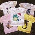 Новинка лета 2021, детские футболки с принтом аниме Мой сосед Тоторо, детская одежда для мальчиков и девочек, Повседневные детские футболки, т...