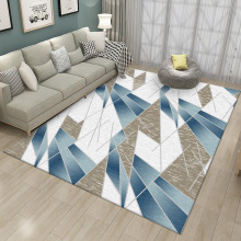 Fashion modern Yellow gray Irregular blue white line geometry carpet Living room floor mat bedroom mat kitchen bedside carpet