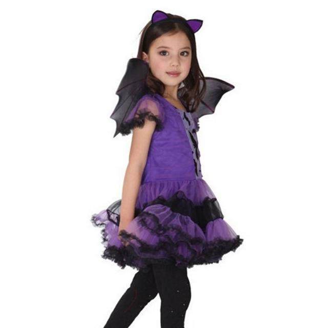 Girls Purple Bat Vampire Princess 2