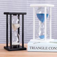 5/15/30min Wooden Sand Clock Sandglass Kitchen School Hourglass Timer Home Decor Hourglass Decoration Personality Birthday Gift недорого