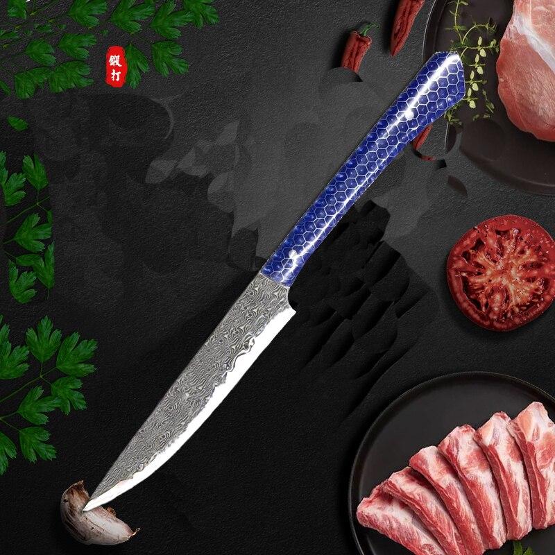 Cuchillo alemán de pelar de 3,5 pulgadas, de acero inoxidable, Damasco, diseño realizado con láser, cuchillos de cocina, frutas, verduras, utensilios de cocina ecológicos